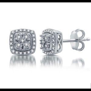 1/10 CT. T.W. Genuine Diamond Stud Earrings